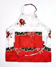 Christmas Adjustable Anti-Stain Waterproof Cooking Apron Holly Berries &... - $13.35