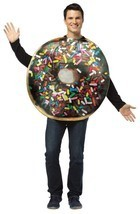Chocolate Doughnut Donut Costume Get Real Adult Food Halloween Unique GC... - $42.99