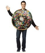 Chocolate Doughnut Donut Costume Get Real Adult Food Halloween Unique GC... - £32.68 GBP