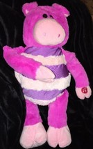 "19"" MUSHABELLY Jay At Play STUFFED PLUSH Zoe PINK Pig w/ Sound MICROBEAD... - $10.00"