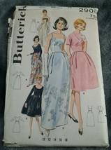 Vtg BUTTERICK 2906 Bell Skirt Evening Gown Long Short Womans 16 Bust 36 ... - $18.68