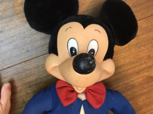 "Rare  Mickey Mouse Applause Doll Vintage 80's Large 24"" Has Tag New *"