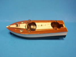 Vintage 1950s Battery Operated Toy Wood Motor Boat Japan - $39.99