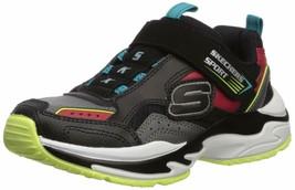 Skechers Kids Boys' Lightweight Gore & Strap SNEA Sneaker, Black/Grey/Re... - £42.10 GBP