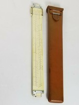 Keuffel & Esser K&E Polyphase Duplex Decitrig Slide Rule 4071-3 w/ Leather Case - $48.98