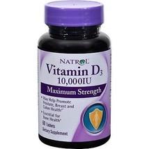 Natrol Vitamin D3 10000 Iu Tablets - 60 Ea (Pack of 6) - $48.15