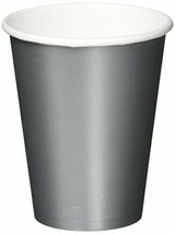 Party Ready Disposable Paper Cups Tableware, Silver, Paper , 9 Ounces, (... - $10.99
