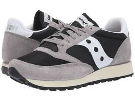 Saucony Jazz Original Vintage Women's Shoe Grey/Black/White, Size 5 M - $49.49