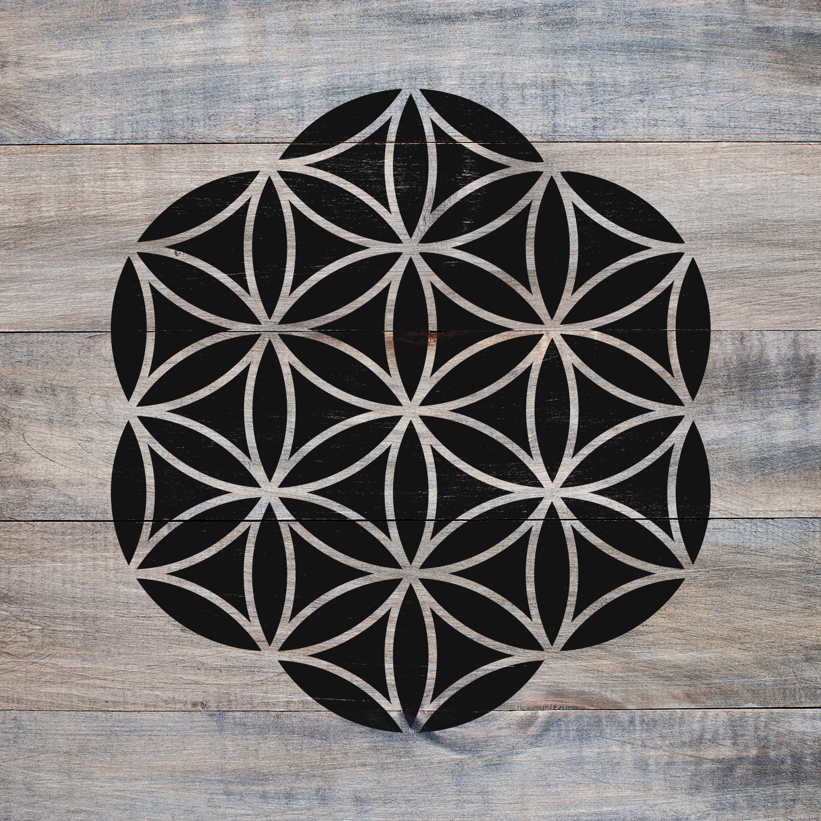 Flower of Life Stencil - Reusable Geometric Stencil in Small & Large Sizes