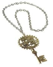 Steampunk Gear Necklace Prop Cosplay Victorian Industrial Era Halloween FM69353 - $34.99