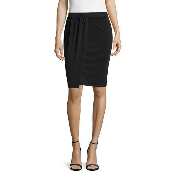 Worthington Solid Black Pencil Skirt Size M New Msrp $40.00 - $14.99