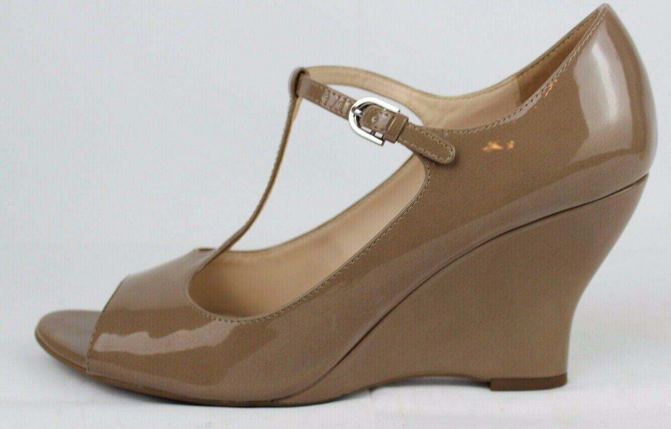 Franco Sarto Sadie Damen Mary Jane Schuhe Vorne Offen Taupe Größe 9M