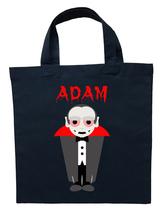 Dracula Trick or Treat Bag - Personalized Dracula Halloween Loot Bag - $11.99+