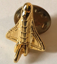 """used space shuttle lapel pin """"gold colored"""" - $10.01"""