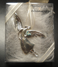 Serenity Christmas Ornament Thinking Of You Angel Mini Ornament Pin Sealed - $7.99