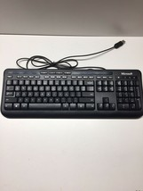 Microsoft Wired Keyboard 600 Model 1576 5V USB Tested - $8.79