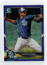 2018 Bowman Chrome ANDERSON ESPINOZA Prospects PURPLE SHIMMER REFRACTOR - $3.95