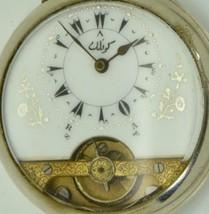 WOW! Rare antique 8Days Hebdomas pocket watch for Ottoman market.Visible... - $945.00