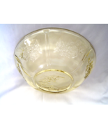 Amber FEDERAL Bowl SHARON CABBAGE ROSE Depression Glass 10 inch - $9.99