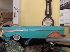 Vtg 1988 BARBIE 57' CHEVY BEL AIR Convertible Car Teal and Pink Chrome F... - $24.49