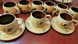 Pennsbury Pottery Morrisville Pa, 1950s 9 Mugs Coffee Cups Set 3 pl Made... - $129.97