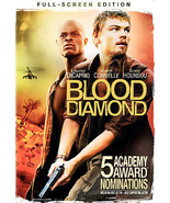 Blood Diamond (DVD, 2007, Full Frame) Leonardo DiCaprio, Jennifer Connelly - $1.95