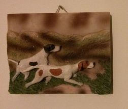 """NEW Dog Ceramic Plaque, 5.5"""" x 4.5"""", 3D, POINTER DOG, FOXHOUND, BEAGLE"""