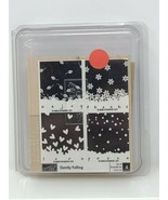 STAMPIN UP New Rubber Stamp Set 2006 Gently Falling Set of 4  - $28.70