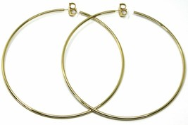 Silver Earrings 925 Circles Large Diameter 9,5 cm Thickness 2 mm Golden image 1