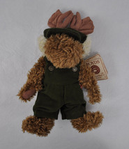 BOYDS Head Bean Collection HUNTER P. MOOSELBERG Plush Moose in Overalls ... - $16.10