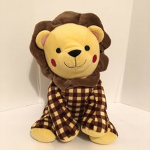 "Sea World Parks Plush Lion Stuffed Animal Approx. 14"" Gingham Plaid Toy 2013 - $39.50"