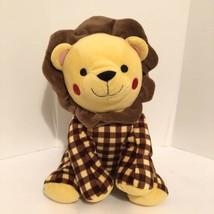 "Sea World Parks Plush Lion Stuffed Animal Approx. 14"" Gingham Plaid Toy ... - $39.50"