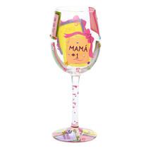 Lolita Wine Glass - Mama #1Hand-painted wine glass with Spanish phrases ... - $17.09