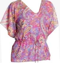 Chaps by Ralph Lauren Paisley Georgette Blouse Tunic Camisole Set Petite PL PXL - $39.98
