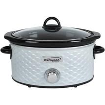 Brentwood Appliances 4.5-quart Scallop Pattern Slow Cooker (white) BTWSC... - $54.72