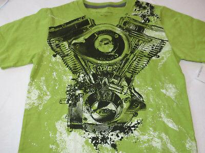 Boy's Youth Calvin Klein short sleeve t shirt NEW NWT Moss Green L 3564184-30