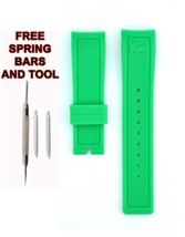 Lacoste 2010715 22mm Green Rubber Watch Strap Band LCS110 - $28.71
