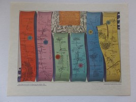 "13"" x 10.5"" Print Reproduction - Road Map from London to Oxford by John ... - $10.84"