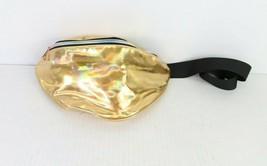 Vintage Multi-Pocket Gold Iridescent Adjustable Fanny Bag Festival Waist... - $34.60