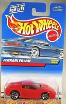 1998 Vintage Hot Wheels Collector #992 FERRARI F512M Red w/Chrome 5 Spok... - $12.50
