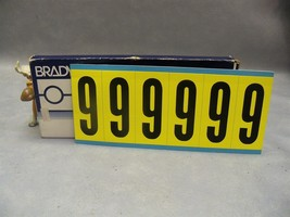 "Brady #9 3450 Series Repositionable labels 3450-9 34509 numbers 3"" H Lot... - $90.18"