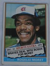 Rogelio Moret, Braves,  1976  632T  Topps  Baseball Card, GOOD CONDITION - $2.96
