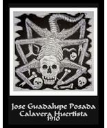 Jose  Posada, calavera huertista spider, Goth, Day of the Dead, goth ske... - $12.49