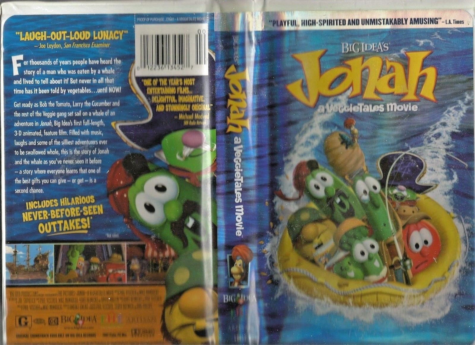 Jonah: A Veggie Tales Movie (VHS, 2002) Used and 24 similar