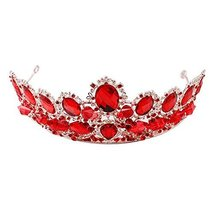 Rhinestone Wedding Accessories Head Decoration Gold Plated Alloy Material Crown