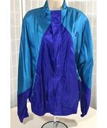 80s 90s Vtg Womens Size L Large Nike Colorblock Nylon Windbreaker Teal P... - $34.95