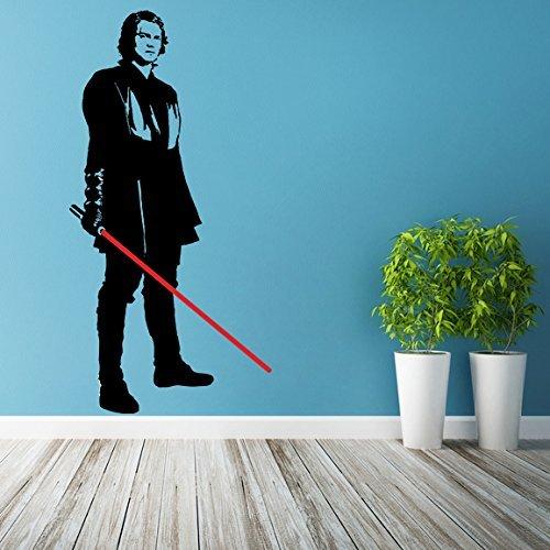 (24'' x 47'') Star Wars Vinyl Wall Decal / Anakin Skywalker with Lightsaber Die  - $37.01