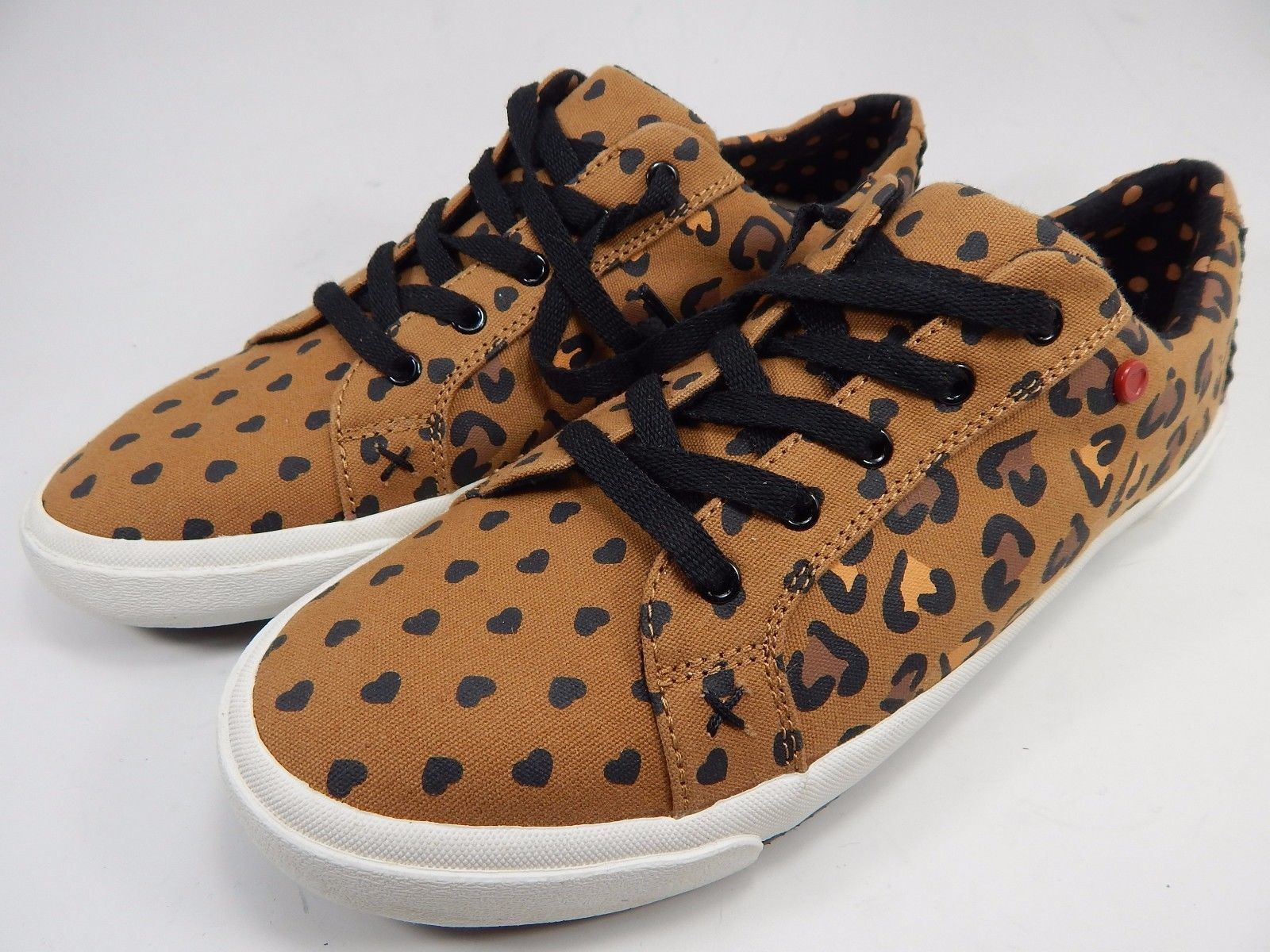 UGG I Heart Lace Up Cheetah Sneakers Shoes Women's Size 7 M (B) Brown 1009490