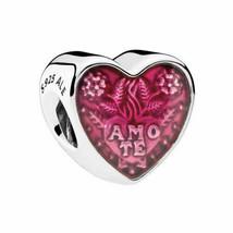Authentic S925 Pandora Latin Love Enamel Heart Charm Bead 792048EN117 - $25.56