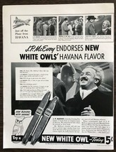 ORIGINAL 1940 White Owl Cigar Print Ad Just Off the Plane from Havana - $12.69